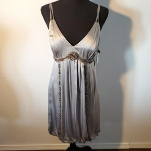 NWT Sue Wong Silk Rhinestone Evening Dress